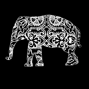 Cute Elephant Gift for Women, Men, Girls & Boys - Vintage Design by ClineProducts