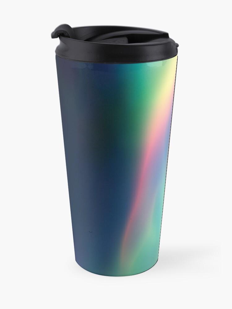 Alternate view of Rainbow Vortex of Light Abstract Art Travel Mug