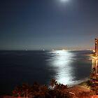 Waikiki By Moonlight.  by Sam  Parsons