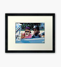 Ice Cube x Master Roshi Framed Print