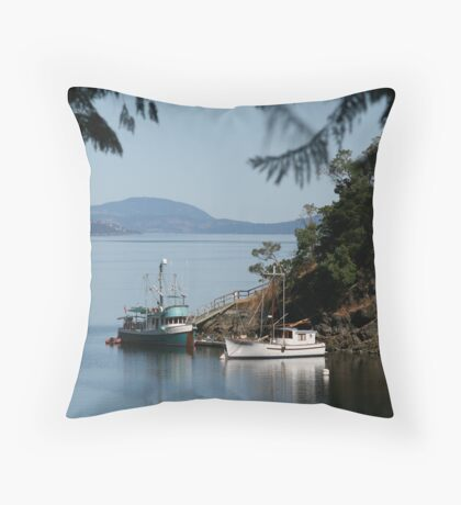 View from Butchart Gardens Throw Pillow
