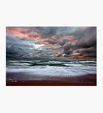 Stormy Skies of Inverness Beach Nova Scotia  Photographic Print