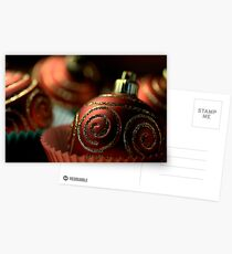 Christmas Bauble Cupcakes Postcards