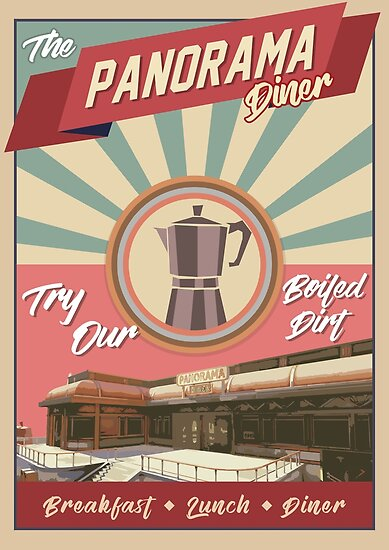 Quot Panorama Diner Quot Poster By Jairhenriques Redbubble