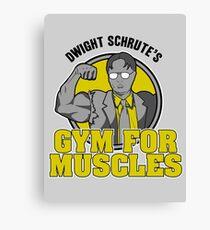 Lienzo Gimnasio de Dwight Schrute para los músculos