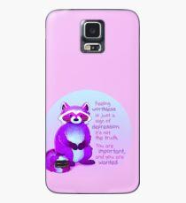 """""""Du bist wichtig und du wirst gesucht"""" Waschbär Hülle & Klebefolie für Samsung Galaxy"""