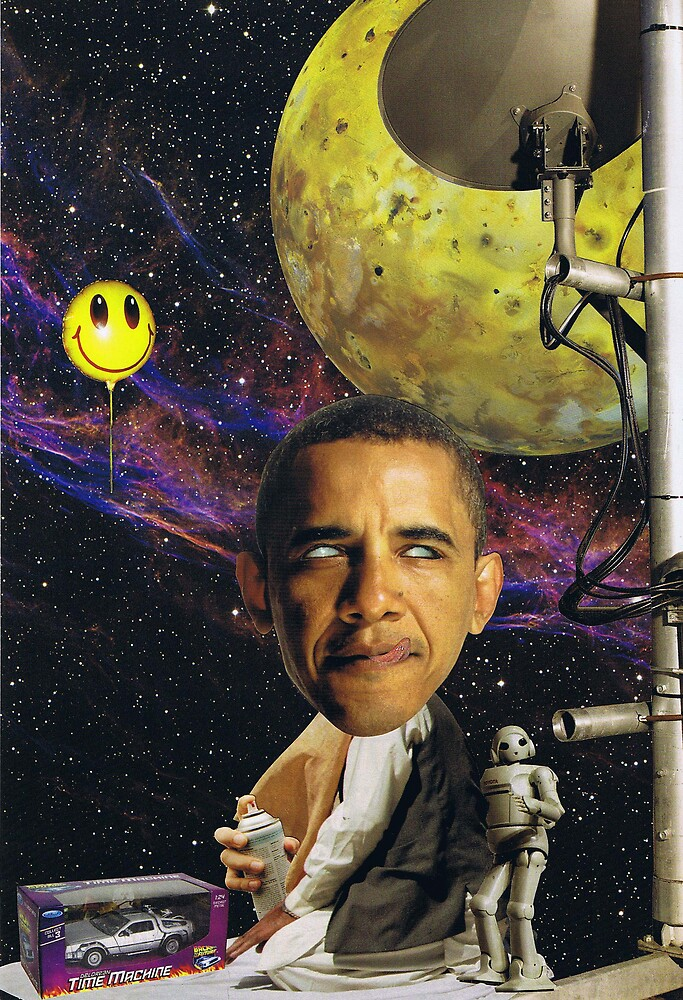 """Obama""....travelling at the speed of thought by atomikboy"