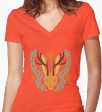 Sunbake Women's Fitted V-Neck T-Shirt