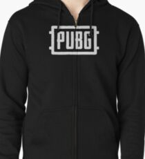 PlayerUnknown's Battlegrounds - PUBG - White Zipped Hoodie