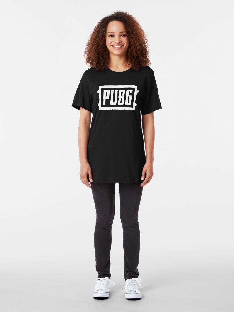 Alternate view of PlayerUnknown's Battlegrounds - PUBG - White Slim Fit T-Shirt