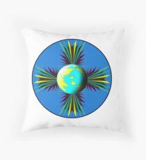 Earth Logo for Sale Throw Pillow