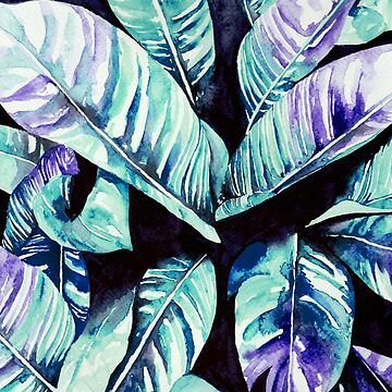 Hand Painted Colorful Palm Leaf Print  by annetweelink