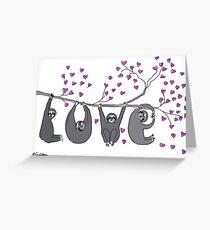 Sloth Love Print Greeting Card