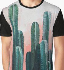 Cactus art - green & rose Graphic T-Shirt
