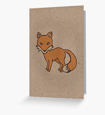 Recycled Fox #1 Greeting Card