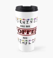 Stranger Things Coffee and Contemplation Design Travel Mug