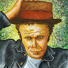 Tom Waits Portrait by Sean Poole