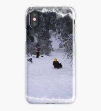 Sledding iPhone Case/Skin