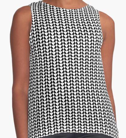 Black & White Pattern for a Skirt Sleeveless Top