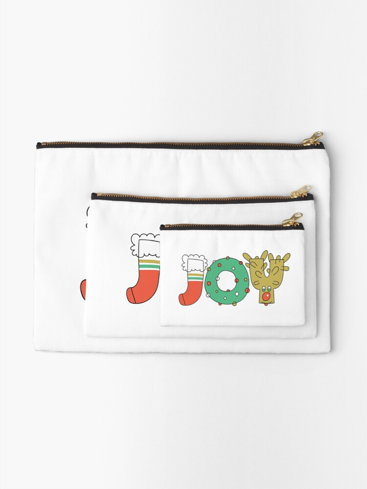 Alternate view of JOY of Christmas Zipper Pouch