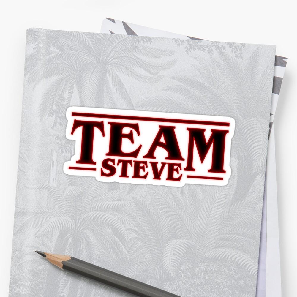 Stranger Things Team Steve Design Pegatina