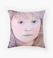 Nic, My Daughter at 4 yrs old Throw Pillow