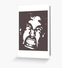 In your face Greeting Card