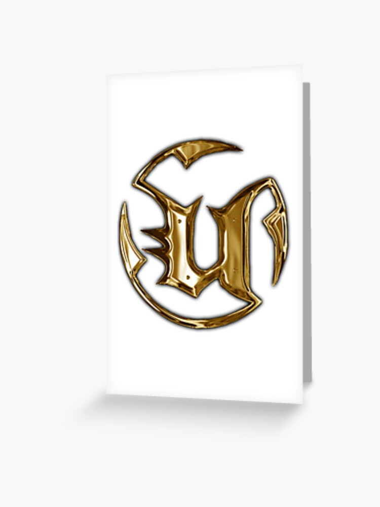 Unreal Tournament Gold Logo | Greeting Card