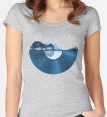 Nature Guitar Record Women's Fitted Scoop T-Shirt