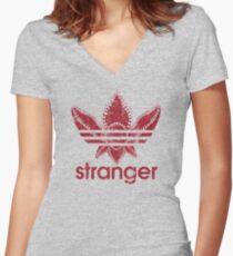 Stranger Athletic Women's Fitted V-Neck T-Shirt