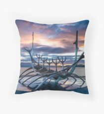 Iceland - Sun Voyager Throw Pillow