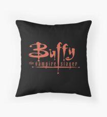 Buffy The Vampire Slayer Logo Throw Pillow