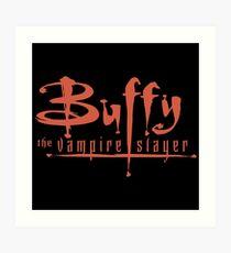 Buffy The Vampire Slayer Logo Art Print