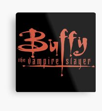Buffy The Vampire Slayer Logo Metal Print