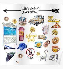 Gilmore Girls Custom Icons Poster
