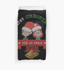 Our First Christmas As Mr and Mrs 2017 Ugly Sweater Knitted Design Gift For Married Couples Just Married T-Shirt Sweater Hoodie Iphone Samsung Phone Case Coffee Mug Tablet Case Duvet Cover