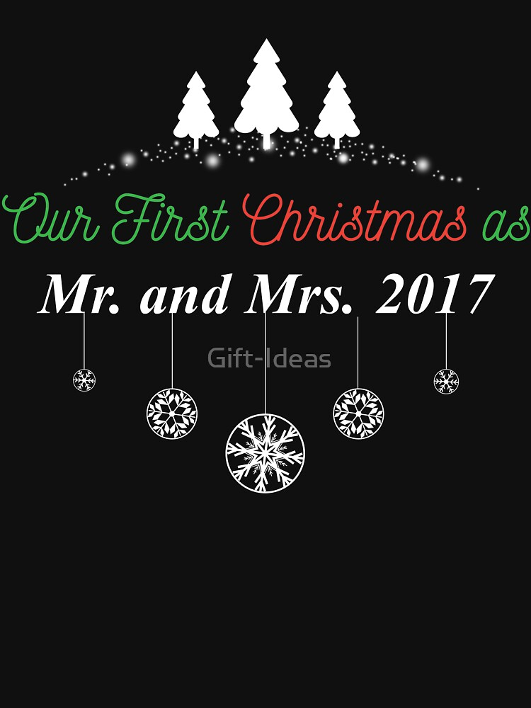 our first christmas as mr and mrs gift for husband and wife married couples t