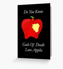 DeathApples Greeting Card