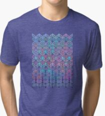 Mermaid's Braids - a colored pencil pattern Tri-blend T-Shirt