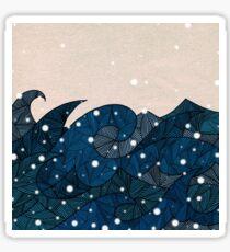 - winter waves in the snow - Sticker