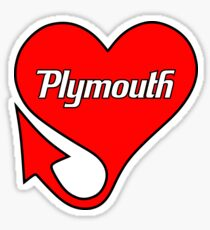 Plymouth Heart Sticker