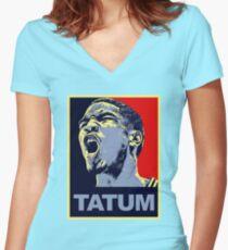 jayson tatum Women's Fitted V-Neck T-Shirt