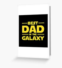 Bester Vater in der Galaxie Grußkarte