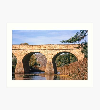 Autumn—Richmond Bridge, Tasmania Art Print