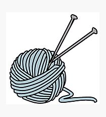 Knitting Yarn Photographic Print