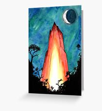 Crystal Burning in the Forest of the Night Greeting Card