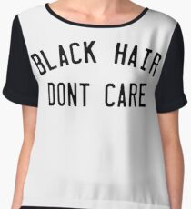 Black Hair Present Lifestyle Design Chiffon Top