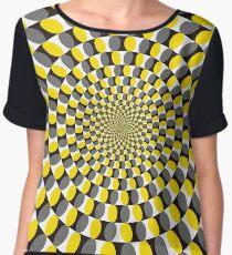 Optical illusion Spin Cycle Chiffon Top