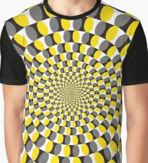 Optical illusion Spin Cycle Graphic T-Shirt