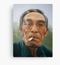 Male smoking Canvas Print